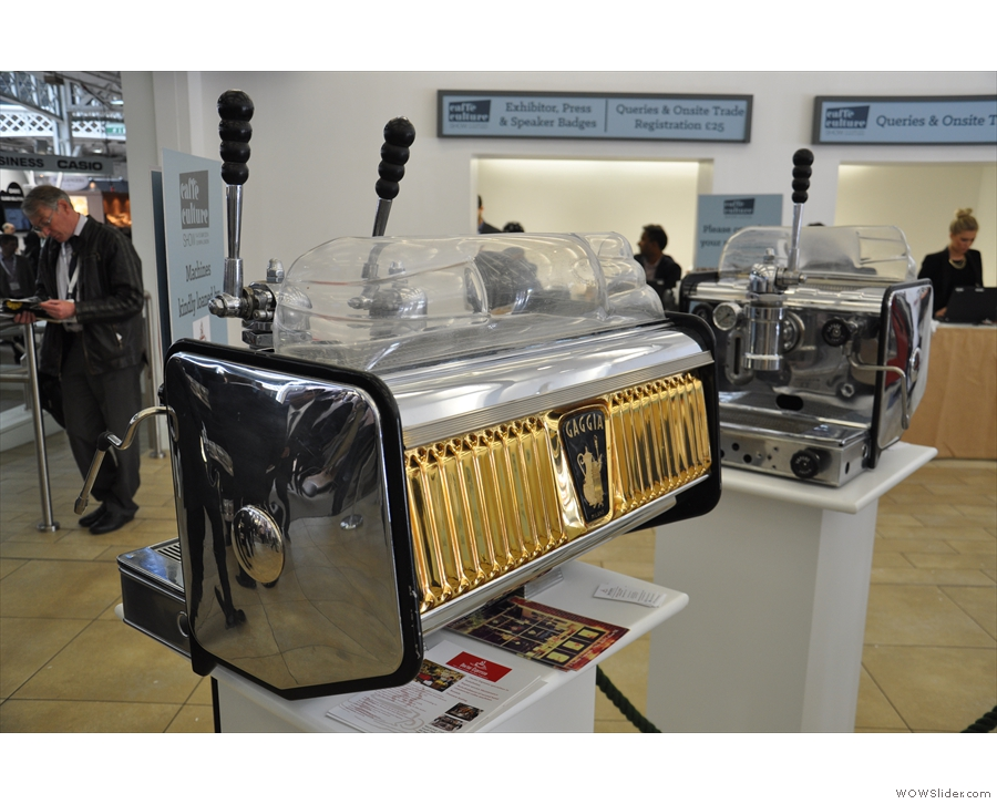 There were some beauties on display, including this two-group Gaggia.