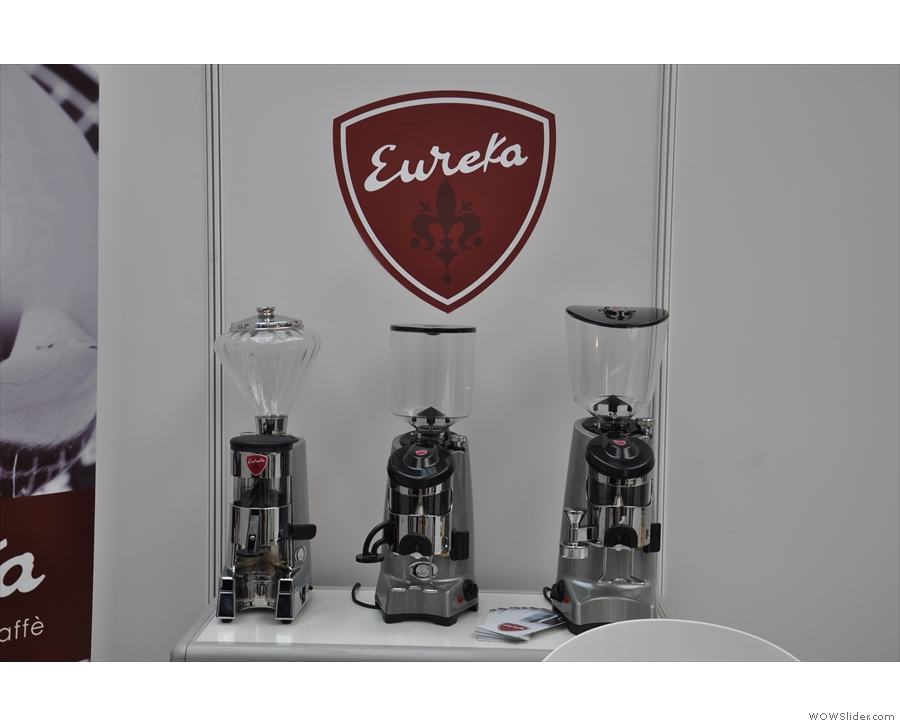 Terone was sharing the stand with Eureka Grinders who have some lovely looking machines!