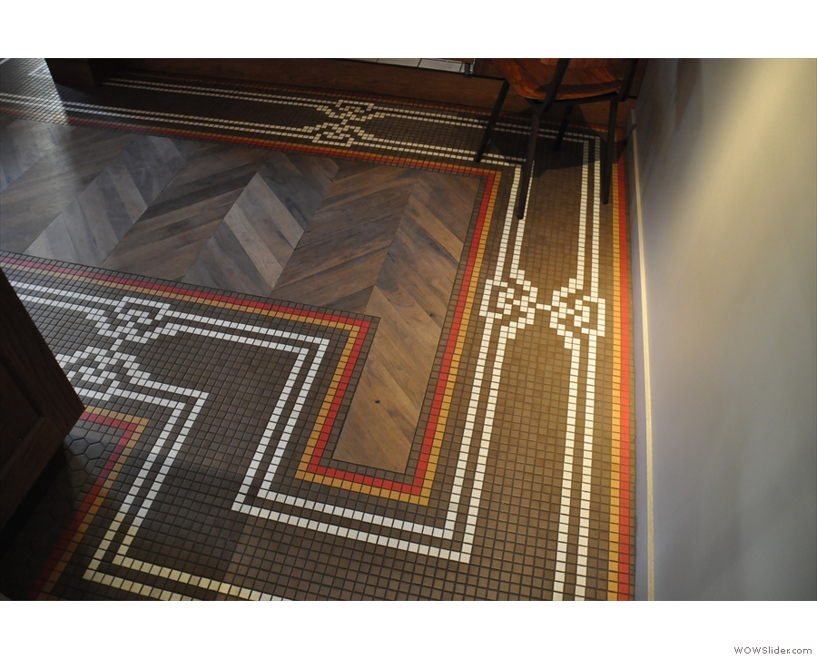 I loved the parquet floor and the tiling around the edges.