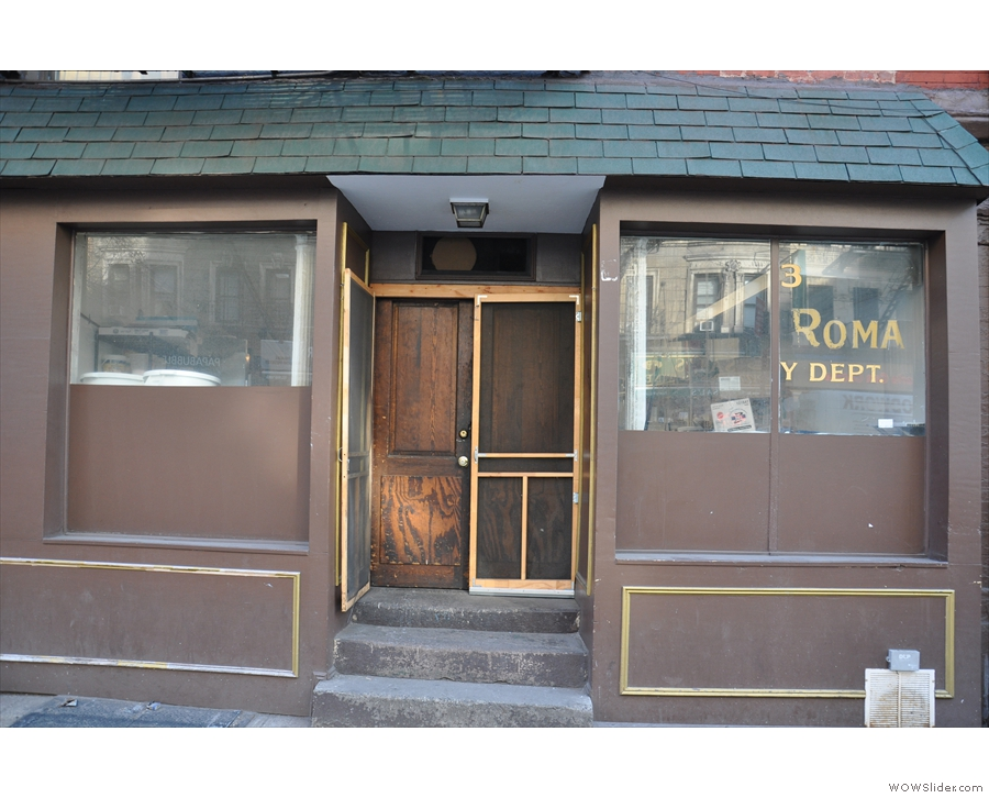 Next door to Caffe Roma on Broome Street is the unheralded 'Caffe Roma Bakery Dept.'