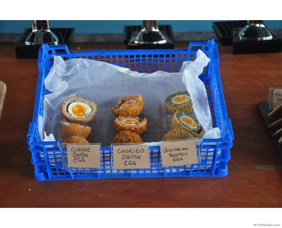 I'm definitely trying the vegetarian scotch eggs the next time I go!