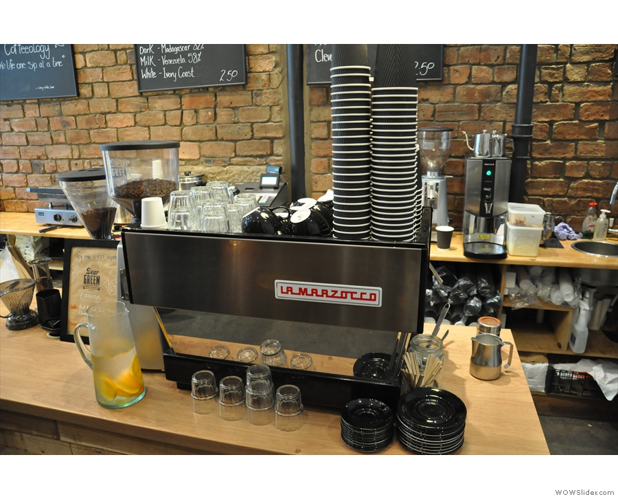The La Marzocco espresso machine in more detail.