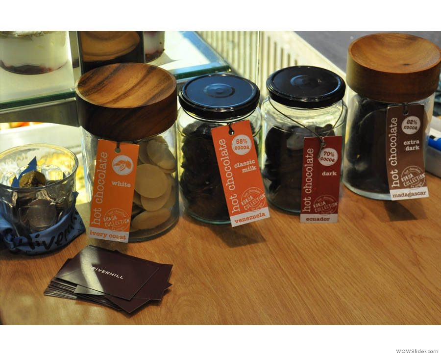 The hot chocolate selection from Kokoa Collection.