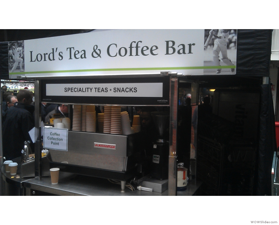 The branding, and quite possibly the company providing the coffee, has also changed since then.