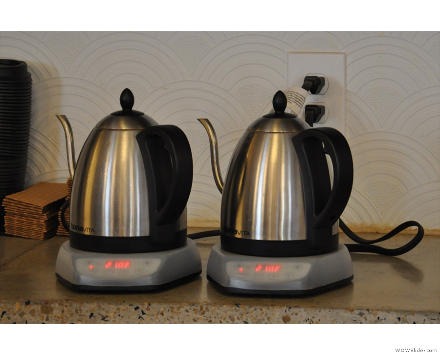 So big, in fact, that it takes two kettles to service it!