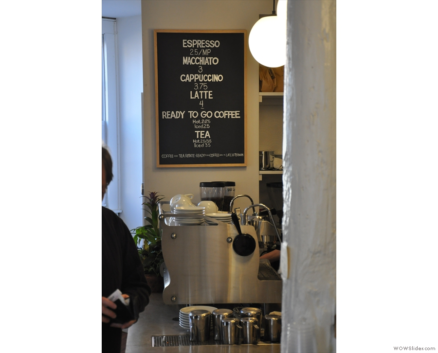 Anyway, we need coffee!! Nice, concise menu.