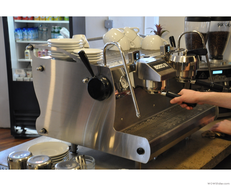 The business end of the Synesso...