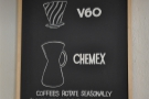 Meanwhile, I wanted pour-over. V60? Or Chemex? Just me, so V60 it is.