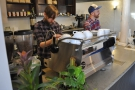We put Austin and Brian to work. A barista called Brian? It's too confusing!