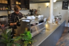 So, to business. The Synesso occupies one end of the counter...