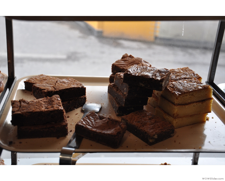 Chocolate brownies and blondies.