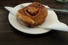 ... and my favourite, a cinnamon bun (Kate had a duffin).