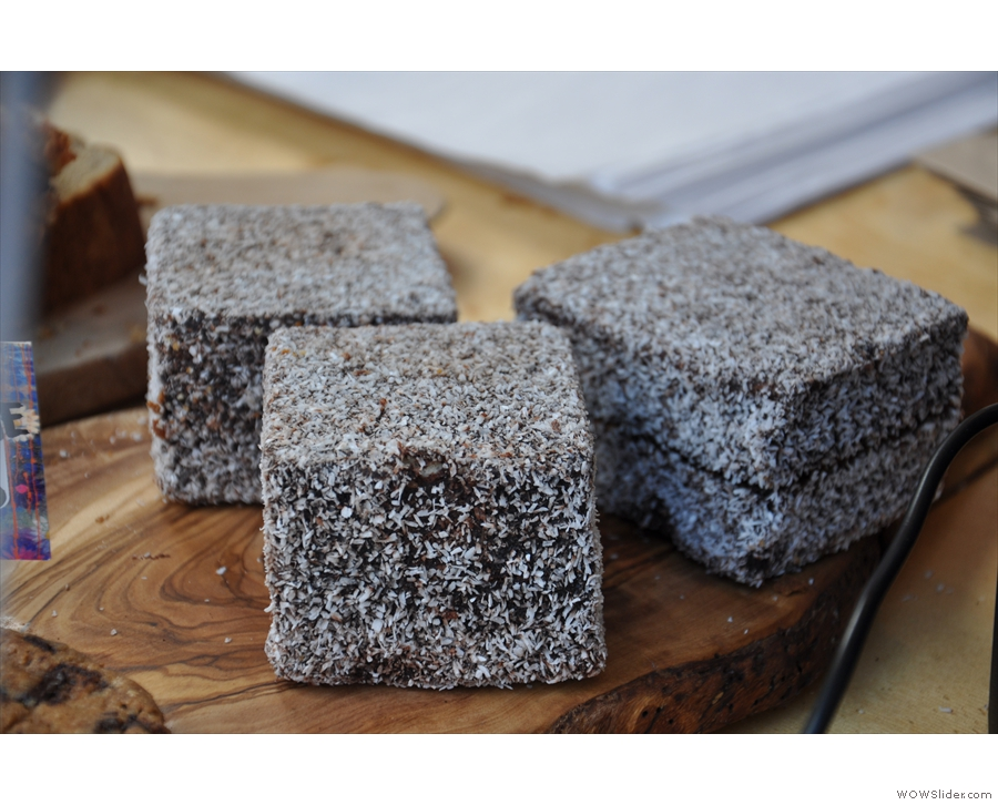 ... not forgetting the Borg Cube of cake, the Lamington.