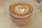 My lovely flat white in JOCO Cup, who had missed Beany Green almost as much as I had!