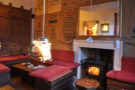 The roaring wood-burning stove makes it very cosy.