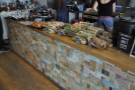 The counter, laden with goodies for lunch!