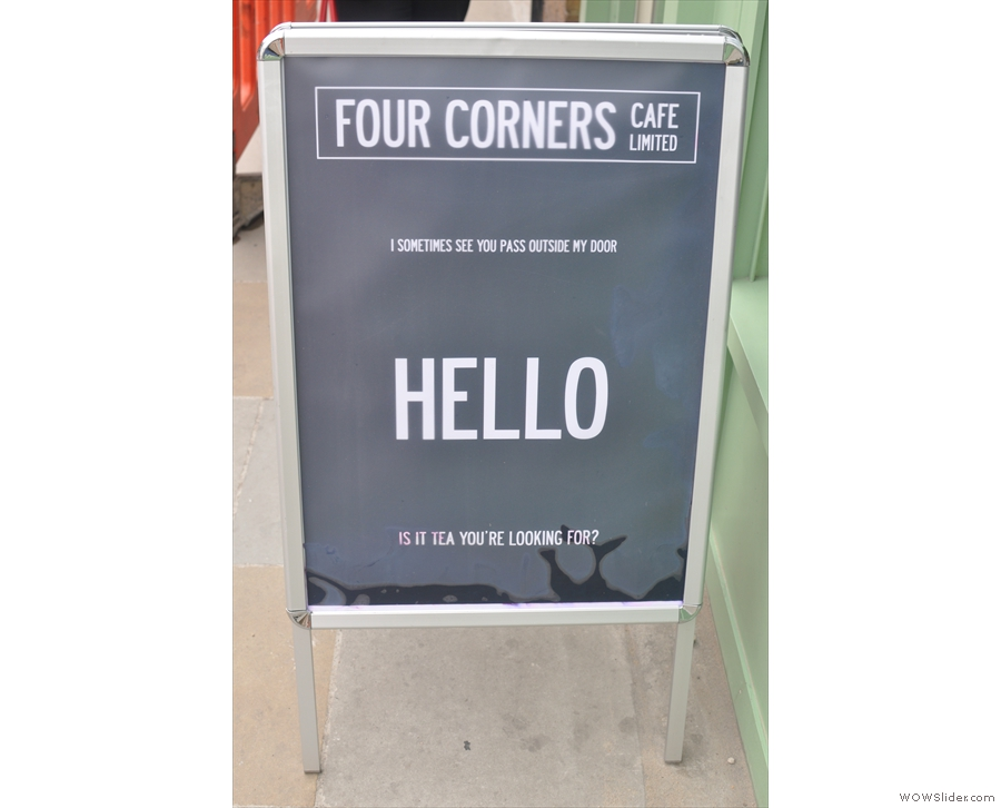 And corny A-boards: if you can't read the small print, it's probably a blessing!