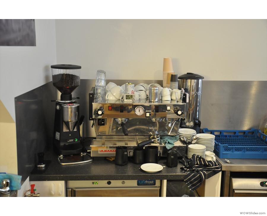 .... and the espresso machine.