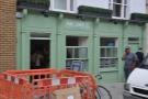 Four Corners Cafe on Lower Marsh, complete with its own roadworks!