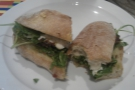 And my sandwich: so good I took a chunk out of it before remembering I was supposed to be taking a picture...