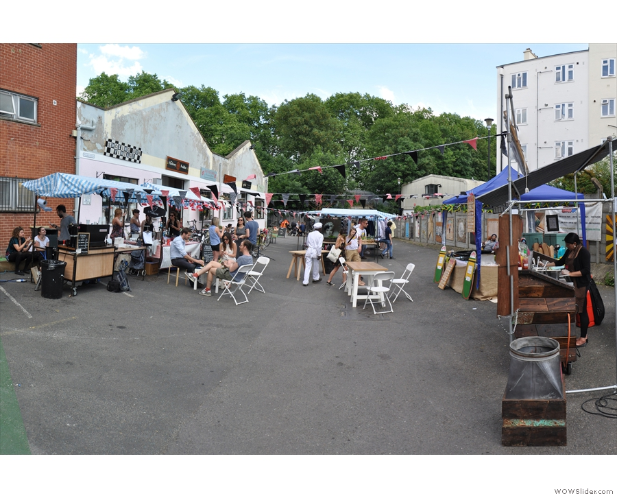 Stepping into Village Green Market, Terrone was the first stall on the left.