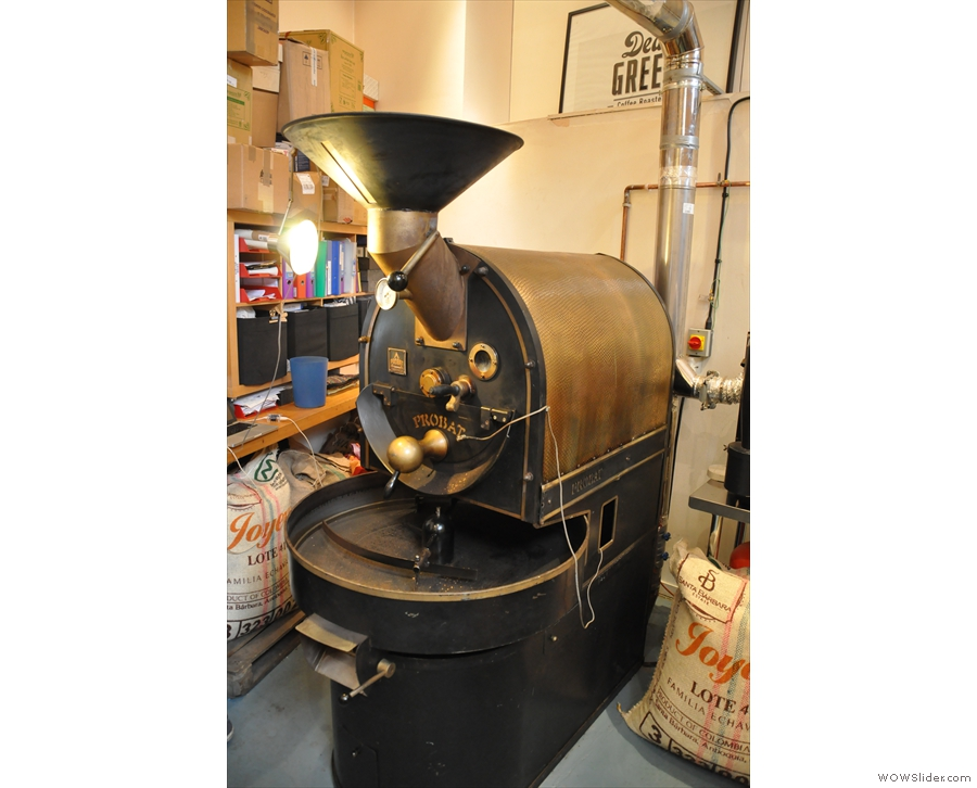 ... OK, this is what I'm looking for, the 12kg Probat. The little 'un was the sample roaster!