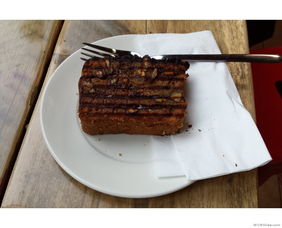There was also much cake sampling going on, starting with the banana bread.