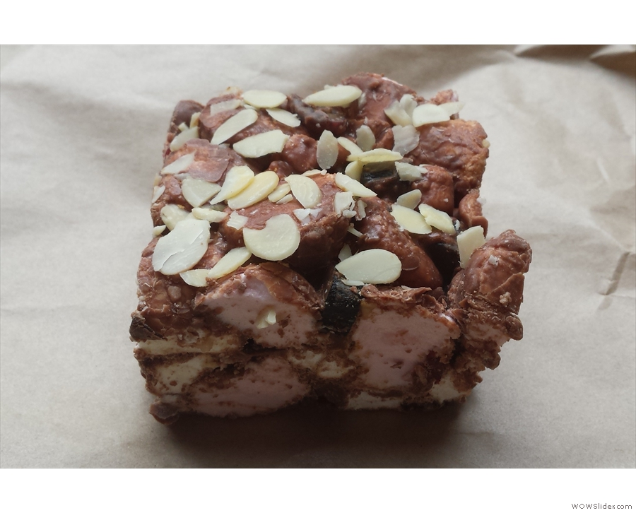 Next up, my Rocky Road. This slice (square?) is easily the largest I've ever had!