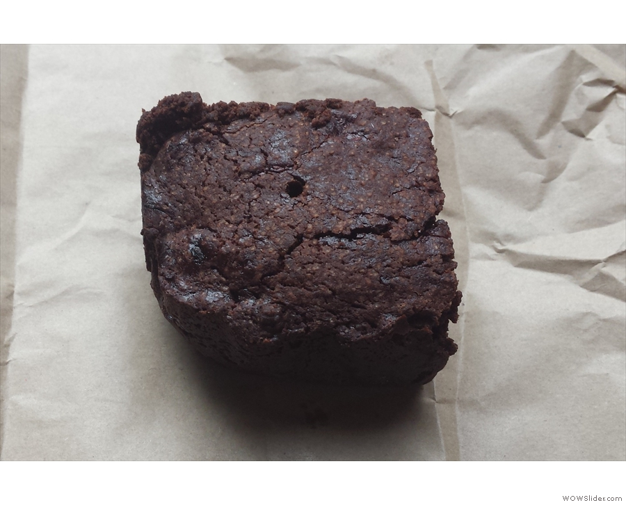 My dark chocolate and raspberry brownie was just as big!