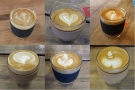 I'll leave you with some of the flat whites I've had over the last two months...