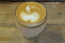 However, I normally have a flat white. Here KeepCup, himself an Aussie, does the honours.