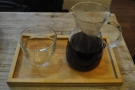 I went for a V60 of the El Aguila Santa Ana from El Salvador, via London's Square Mile.