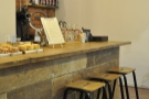 You can also sit at the end of the counter and watch the baristas at work on the V60s.