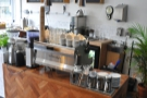 Meanwhile, the coffee end of the counter is dominated by the Synesso espresso machine.
