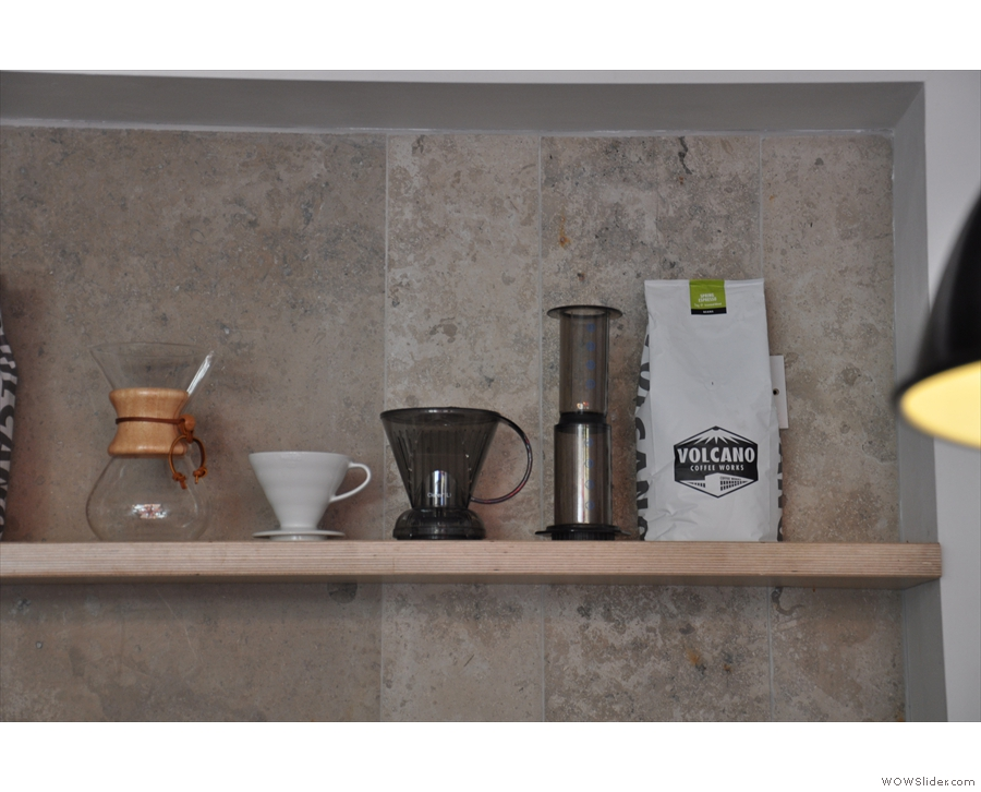 Dash's extensive range of pour-over filter options.