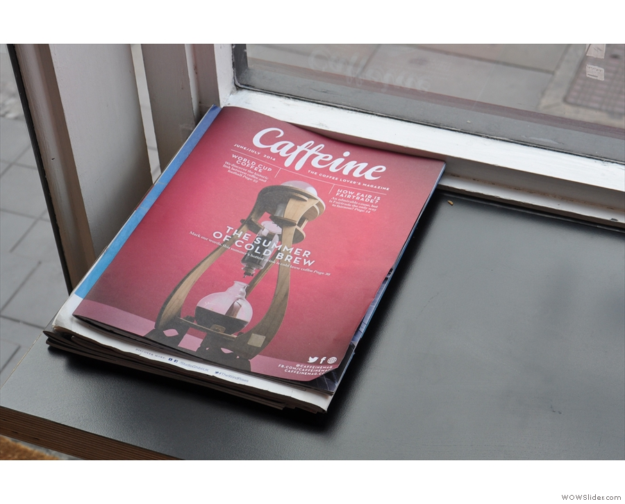 What's that by the window? Oh look, Caffeine Magazine! Is there no escape?