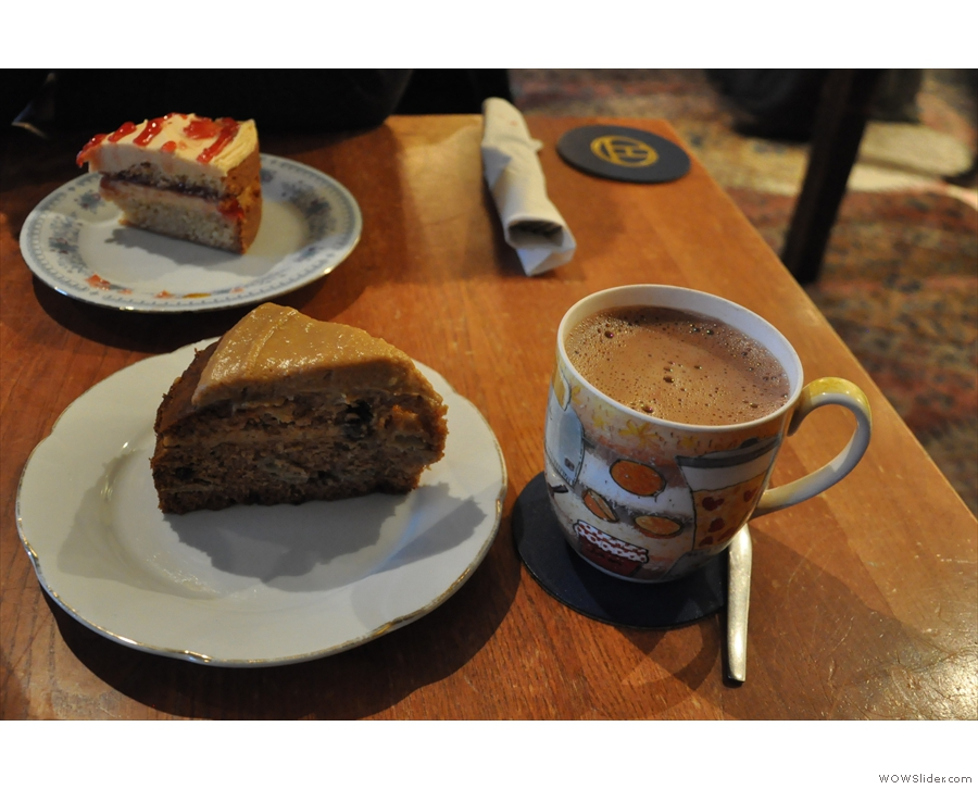 From a previous visit with my friend Laura. No coffee? No problem: hot chocolate please!