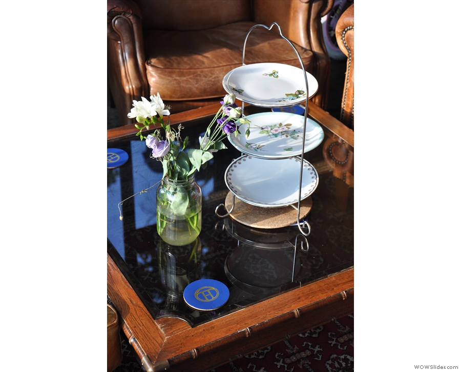 I loved a lot of the little details, such as these three-tiered cake stands.