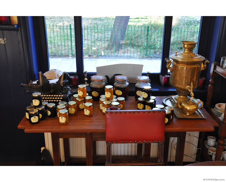 ... and a table dedicated to preserves.