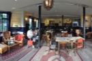 Stepping inside, a panoramic view from the central double-doors.