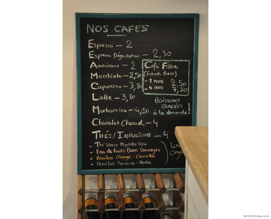 So, down to business... Let's take a look at the coffee menu.