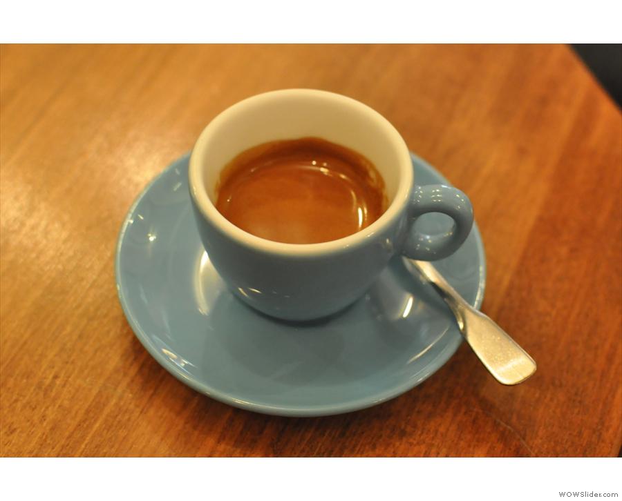 My Brazilian single-origin espresso.