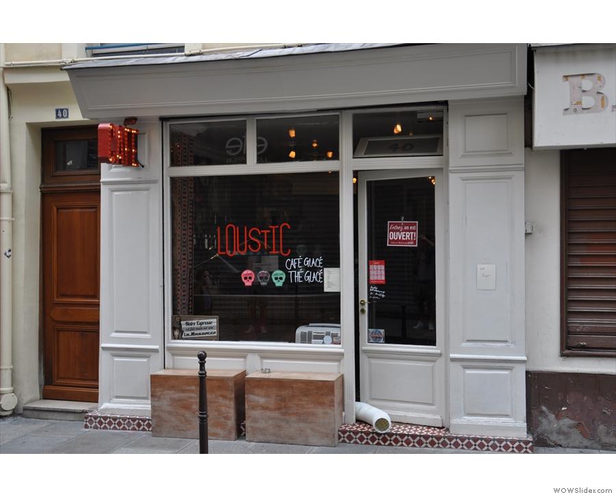 Loustic, as seen from across rue Chapon.