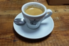My humble espresso. Cracking cup though!