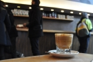 Here, my cortado eyes up the other customers.