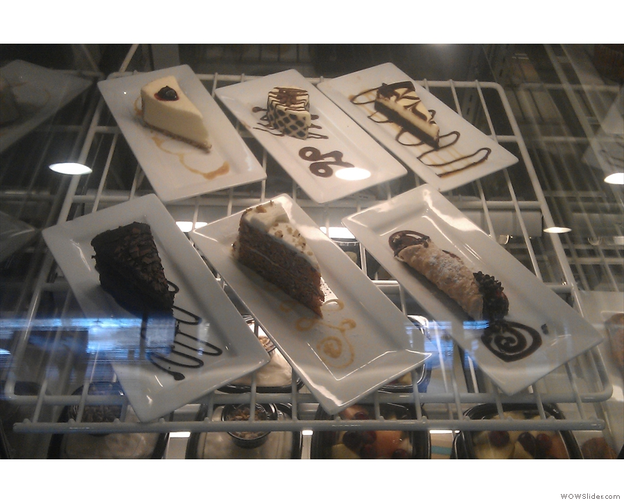 The array of cheesecake and cannoli was impressive.