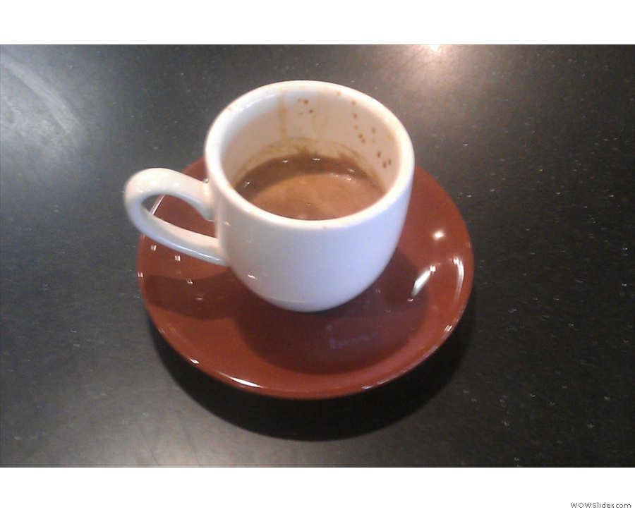 A commendably short espresso.
