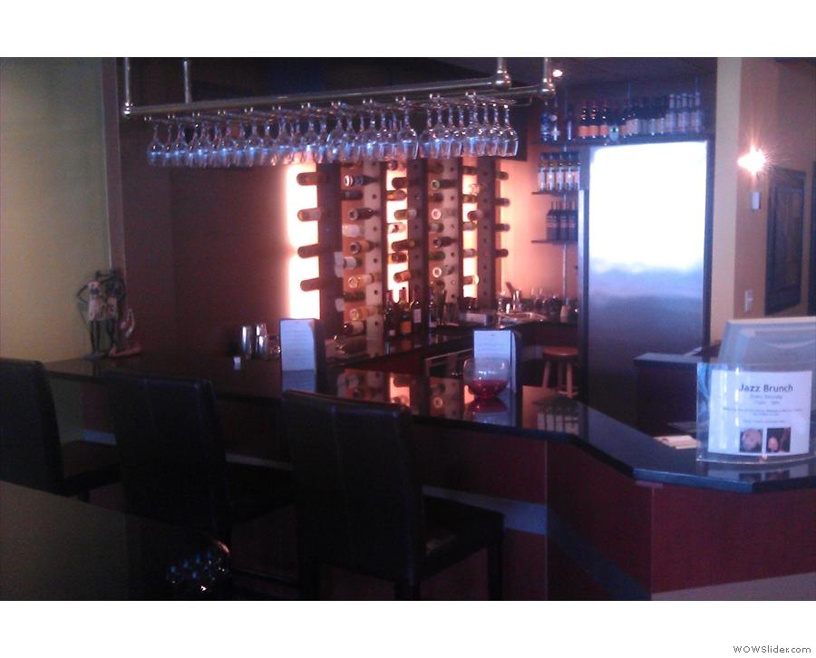 The bar in the far corner.