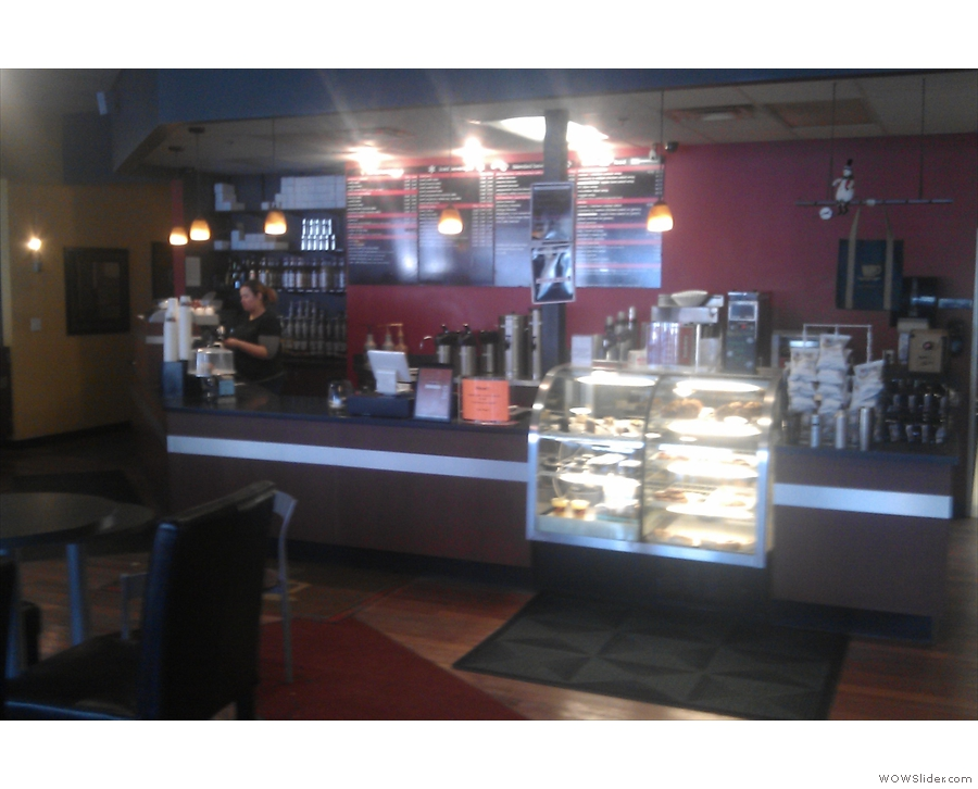 The counter, as seen from just inside the door.