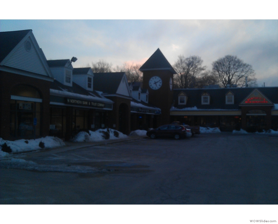 The little plaza on Littleton Road, home of The Java Room.